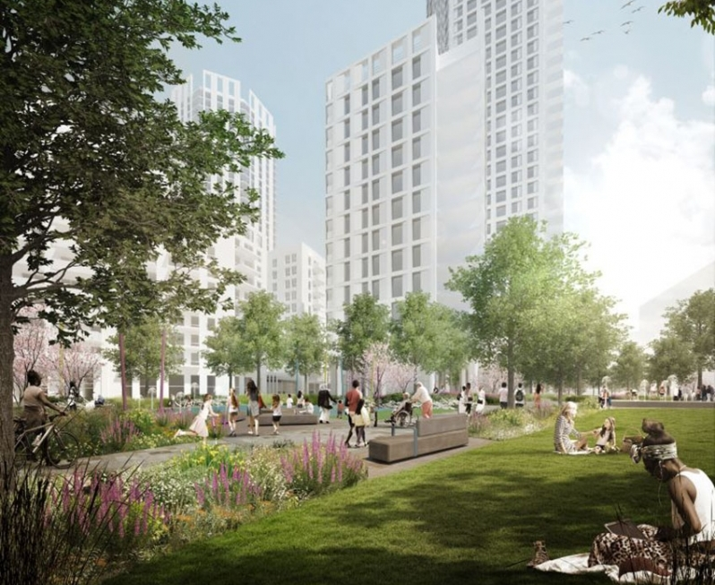 CGI of the Cantium will create more than 1,000 new homes